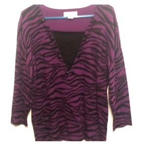 Sag Harbor zebra print sweater